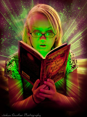 The Magic Book! (Joshua Gunther) Tags: girl kids photography reading book joshua magic harrypotter stories gunther spells jkrowling mywinners d700 theunforgettablepictures nikond700 thebestofnikon exploredbeauty thetalesofbeedlethebard