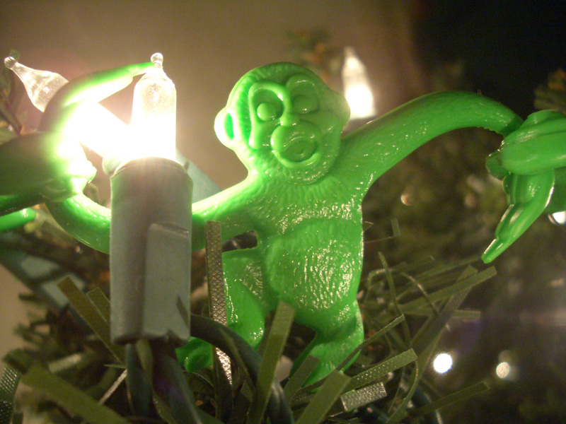Christmas Tree Monkey