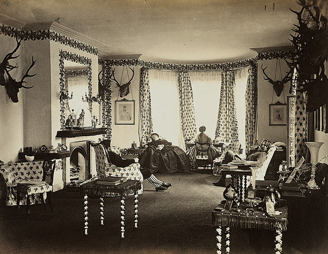 Interior of the Drawing Room Mar Lodge by National Galleries of Scotland Commons
