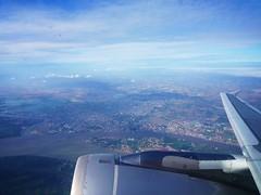 Leaving Phnom Penh (greensake) Tags: sky cloud colors plane river singapore cambodia phnompenh greensake