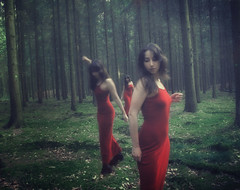 Red dress (sole) Tags: lighting wood trees girls light red portrait woman selfportrait holland colour tree sexy green art nature netherlands girl beautiful beauty dutch mystery female forest photoshop self canon pose dark ilovenature photography photo mujer model woods women europe fotografie chica dress artistic sweet expression feminine femme curves dream young longhair thenetherlands surreal sensual spanish clones mysterious dreamy latina brunette sensuality carmen vrouw solea sole carmengonzalez sweetandsexy sweetsexywoman