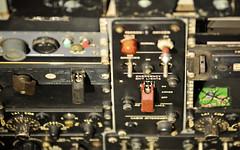 Boeing 707 Controls - Emergency Exit Lights (Stuart Herbert) Tags: uk scotland europe stu cockpit location instruments flightdeck dials gauges boeing707 eastlothian eastfortuneairfield afzoomnikkor80200mmf28ded nationalmuseumofflight otherkeywords flipswitches