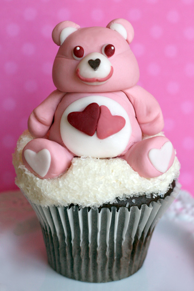 Care Bear on a Cloud Cupcake