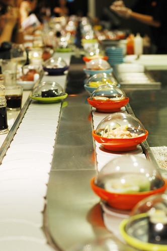 Yo Sushi belt.