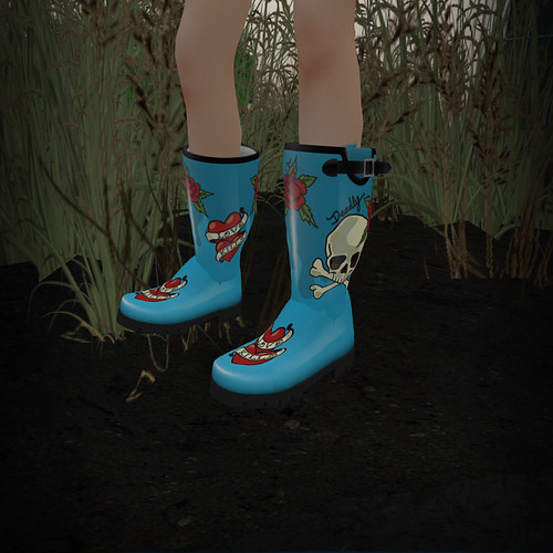 UBU Tattoo Rain Boots