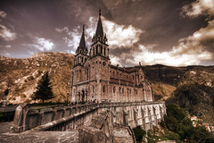 Iglesia de Covadonga (GustavoCba) Tags: espaa goldstaraward abigfave photoshopcreativo 5photosaday iglesia hdr canon 400d photoshop fotgrafos argentinos cordobeses travel argentino trip photo city architecture color colour europe spain church clouds iconos citycape outdoors destination imagination digital cloud exterior famous place ideas memories world illuminated international landmark history photography photpgrapher high angle capital cities no people building day vacation sigma beutiful scenery nature awesome manual art autumn fun love portrait