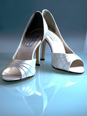 Wedding Shoes - The Day After (e.graves ii) Tags: wedding ladies shoes pumps toe open heels whiteshoes womensshoes opentoe touchups