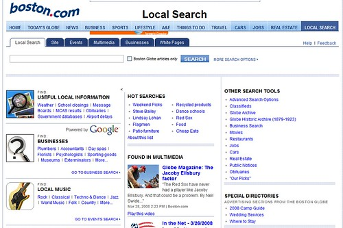 Boston.com local search