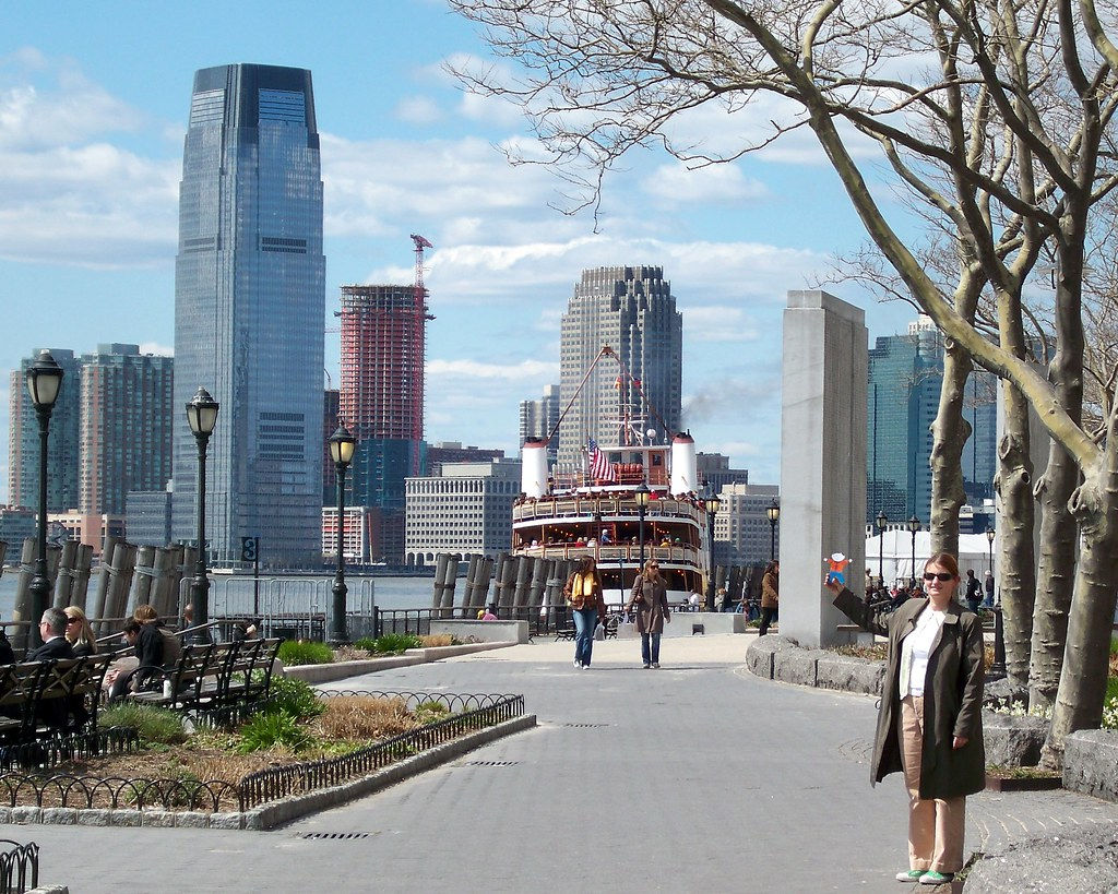 Flat Stanley Looking at Jersey City