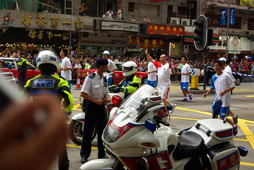 Olympic torch in Hong Kong - May 2, 2008