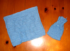 Sheep Washcloth & Soap Sack (akkasha) Tags: leftovers easy quick sheepwashclothsoapsack7deadlyspinssevendeadlyspins