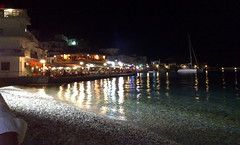 kokkari by night ! (iliasamos) Tags: sea night lights nokia bars cellphone greece samos kokkari nseries blueribbonwinner n82 superbmasterpiece
