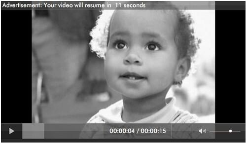 Ad between videos on Hulu