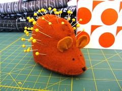 felt hedgehog pincushion