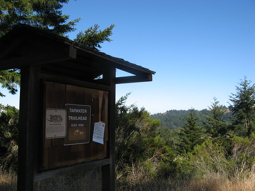 Trail board at the Tarwater Trail Head