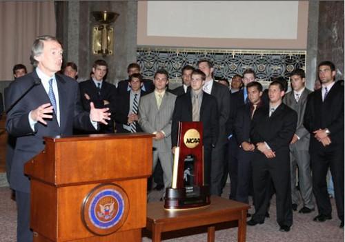 June 24, 2008 - Markey & the NCAA Champs BC Hockey Team