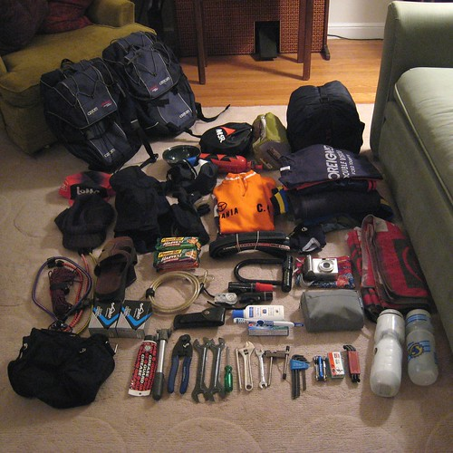 packing for first bike tour
