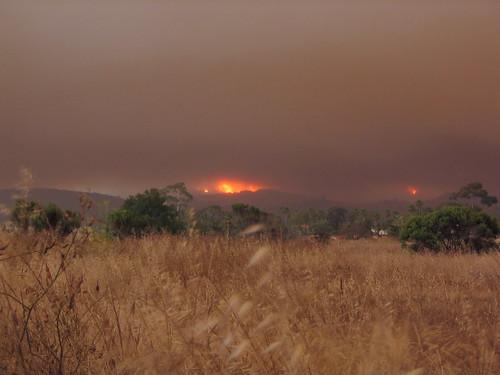 Wildfire seen from Isla Vista