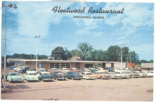 Car Dealerships In Springfield Il >> Postcard Route 66 Fleetwood Restaurant Springfield Il A
