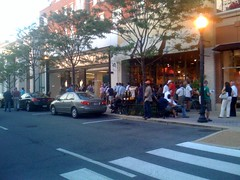 The iPhone line in Clarendon