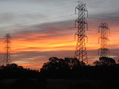 NorCal power line sunrise