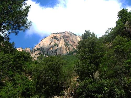 Monte Butara en remontant le Fiumicelli supérieur