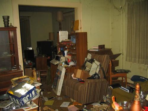 Raided dining room area