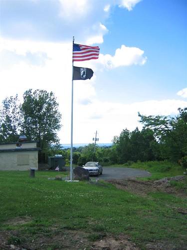 POW memorial in closed area