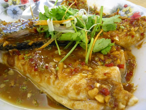 Steamed Fish Tail with Spicy Bean Sauce
