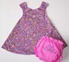 Pretty Paisley dress and diaper set size 9-12M