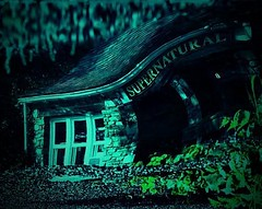 DSC03795adj3 Supernatural Indeed (ftoomschb) Tags: shadow house color green dark lomo creative manipulation eerie stretch haunted creepy mysterious supernatural