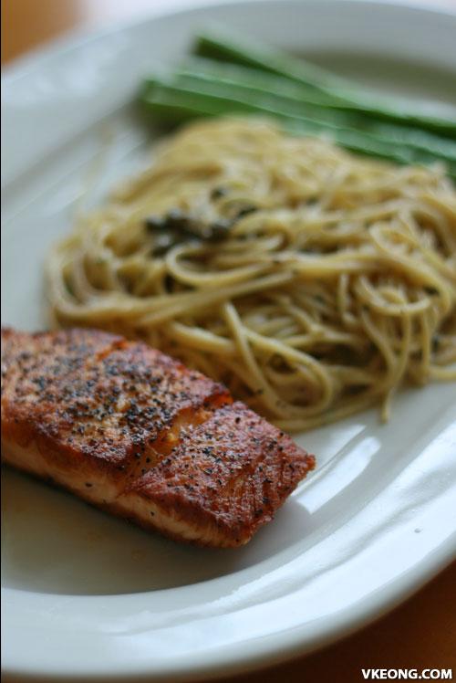 pan sauteed salmon