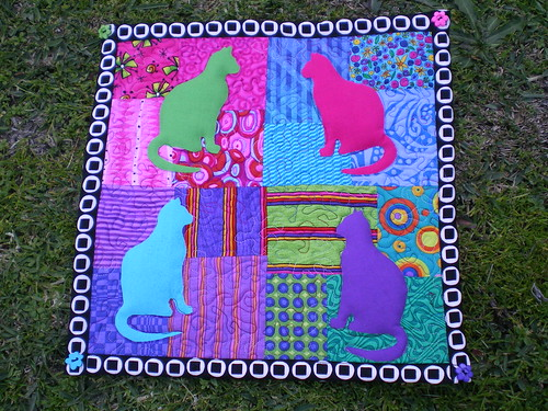 Wonder Cats Mini-quilt