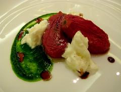 Oven-baked San Marzano Tomatoes with burratta Campana