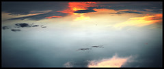 Ocean of the Sky (itneverendsss) Tags: ocean blue red sea sky orange cloud white yellow clouds see view sony perspective cybershot gradient cyril the w300 of herden xentri