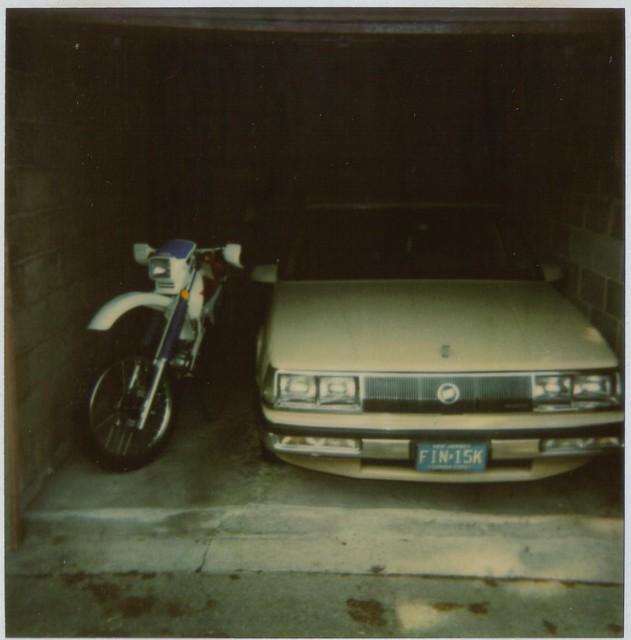 film car polaroid automobile garage tan nj scanned motorcycle 1992 bayonne dualsport hondaxr250l 1985buickparkavenue