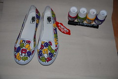 Vans and Fabric paint