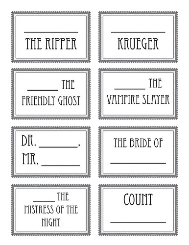 halloween name tags-cup markers