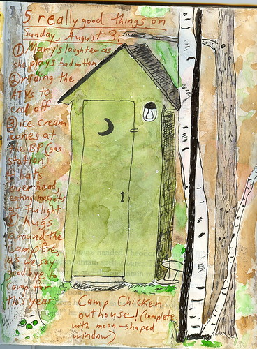 Outhouse journal page