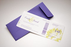 Tropical Flower Boarding Pass