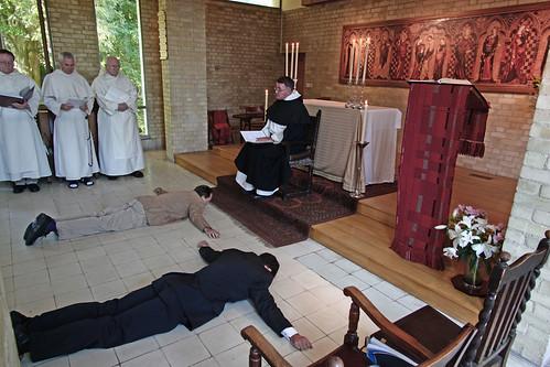 Postulants prostrate