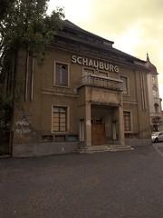 Schauburg (Don Erwetter) Tags: original werbung altstadt fassade huser zittau verfall reklamerelikte