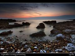 September evening at Rest Bay (opobs) Tags: sunset sea sky beach water southwales wales evening seaside rocks pebbles september bcc wfc bridgend porthcawl restbay welshflickrcymru countyboroughofbridgend opobs bridgenddistrictcameraclub michaeljstokesawpf
