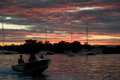 Noosaville sunset (nosha) Tags: sunset nature water beauty boat nikon yacht houseboat australia catamaran qld queensland noosa d300 nosha noosaville