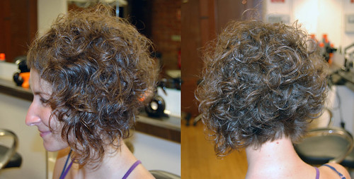 Curly bob hairstyle (photo)