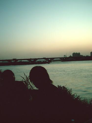[大稻埕碼頭] 兩個人的夕陽