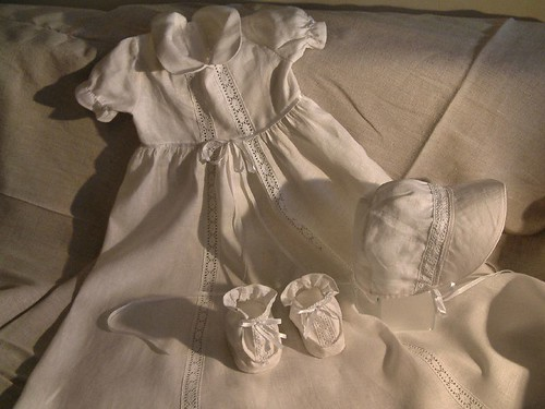 Linen christening robe - LinenMe
