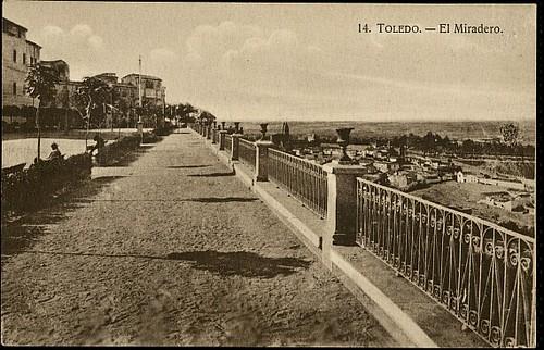 Paseo del Miradero (Toledo). Foto H.A.E. 1926