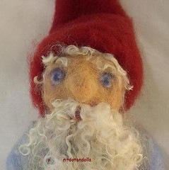 Needle felted gnome made of natural materials --        (orit dotan) Tags: sculpture wool felted gnome dolls felting handmade crafts waldorf arts artdolls fiber handwork fairytales needlefelt filzen      naturecorner  mrchenwolle   nadelfilzen   wooldoll oritdotandolls             waldorfeducation           nfestteam naturalkidsteam