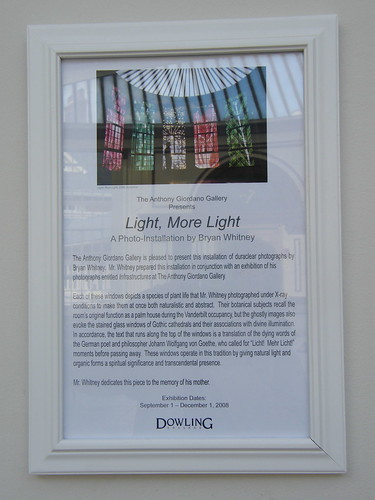 Light More Light Plaque
